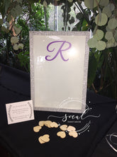 Load image into Gallery viewer, Framed Sign in with Hearts drop in Wedding, Sweet 16, Mitzvah