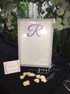 Framed Sign in with Hearts drop in Wedding, Sweet 16, Mitzvah