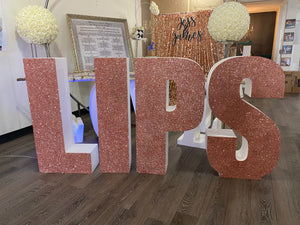 PICK UP- Large Freestanding Foam Letters Priced EACH for Prop or Candy Dessert Table Wedding, Graduation, Birthday