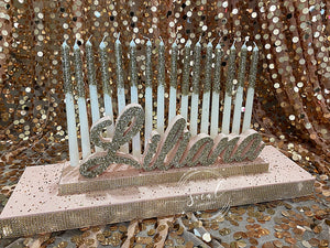 Sweet 16 Candelabra, Quince or Mitzvah Candle Lighting Ceremony Candle Board