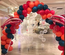 Load image into Gallery viewer, Triple Swirl or Rainbow Balloon Arch Delivered in Orange County California