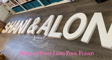 Load image into Gallery viewer, Pool Party Custom Float Decoration Floating Prop Giant Numbers Letters - Wedding, Birthday, Grad