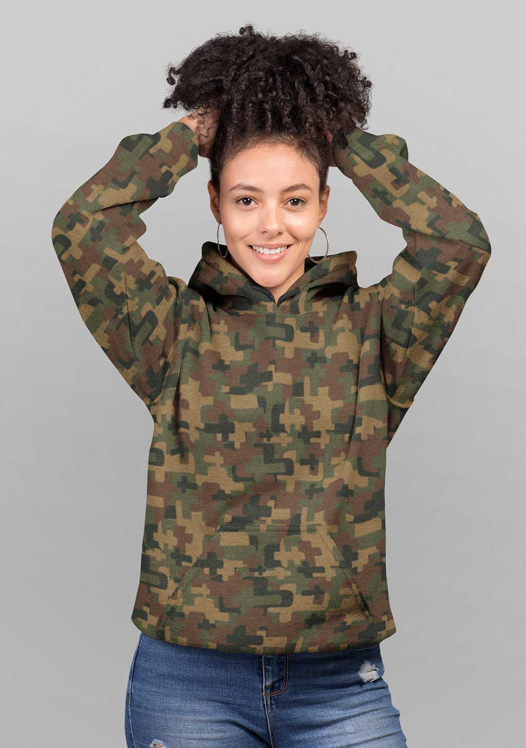 Boaz and Ruth Unisex Cross Camo All over Hoddie