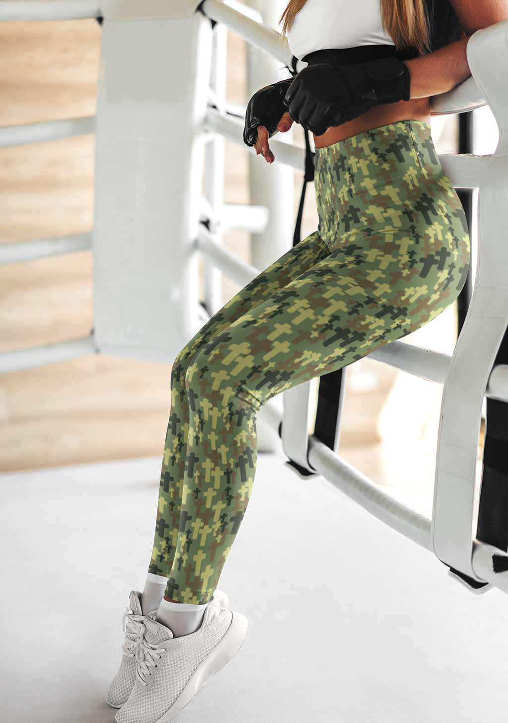 Jael Cross Camo Athletic Leggings