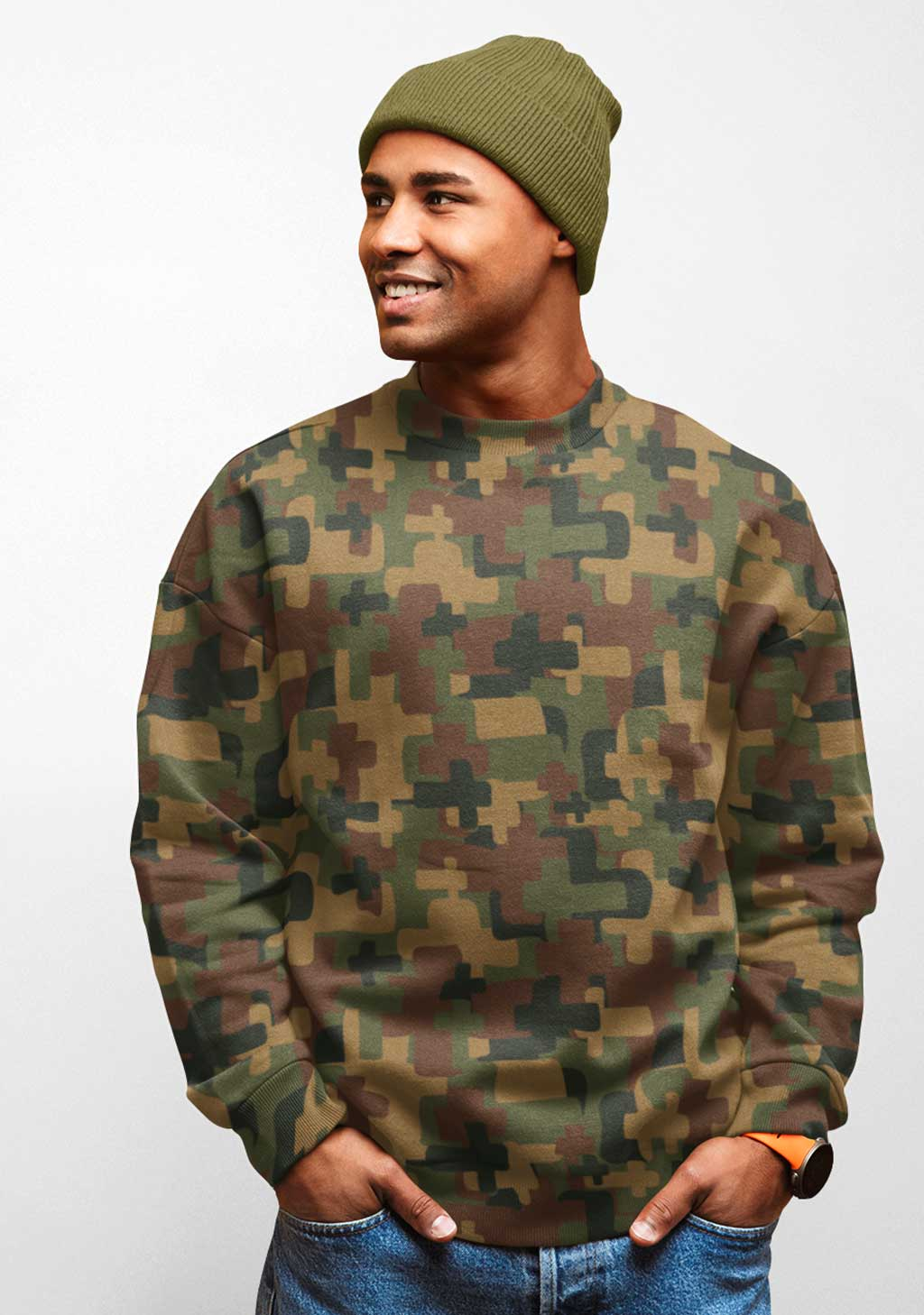 Samson Cross Camo Sweatshirt