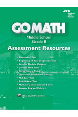 Go Math! Assessment Resource with Answers Grade 8