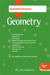Holt McDougal Geometry Common Core Assessment Resources with Answers