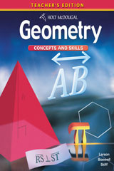 Holt McDougal Geometry Geometry Concepts & Skills with On Core Teacher Bundle