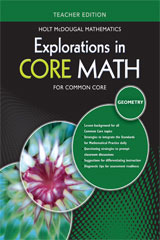 Explorations in Core Math Common Core Teacher Edition Geometry