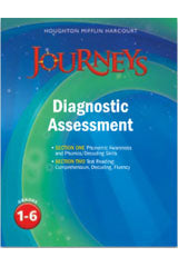 Houghton Mifflin Harcourt Journeys Diagnostic Reading Assessment Grades 1-6