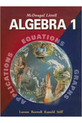 McDougal Littell Algebra 1 Personal Student Tutor CD-ROM with Site License