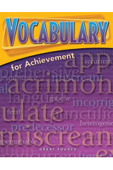 2006 Vocabulary for Achievement Teacher's Edition Grade 10 Fourth Course