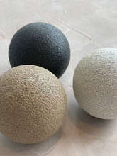 Load image into Gallery viewer, Fire pit orbs  in 3 colors: sand, white ash, & charcoal