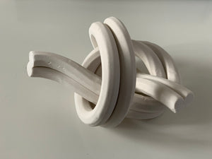 Bare porcelain, double figure 8 knot
