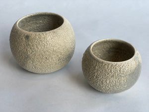 Small set of bowls in white ash