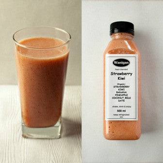 Strawberry Kiwi - 500ml  -Wanigan Organic Smoothie