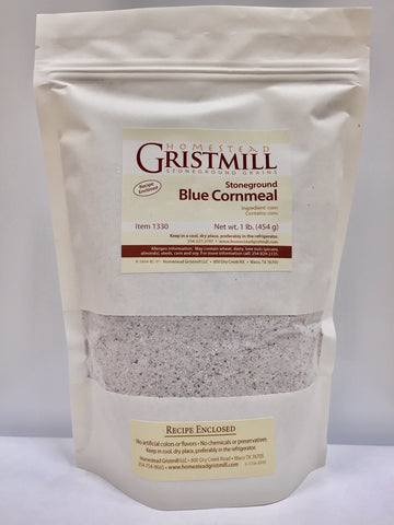 Homestead Gristmill — Organic, Non-GMO, Stone-ground Blue Cornmeal (2 Pack)