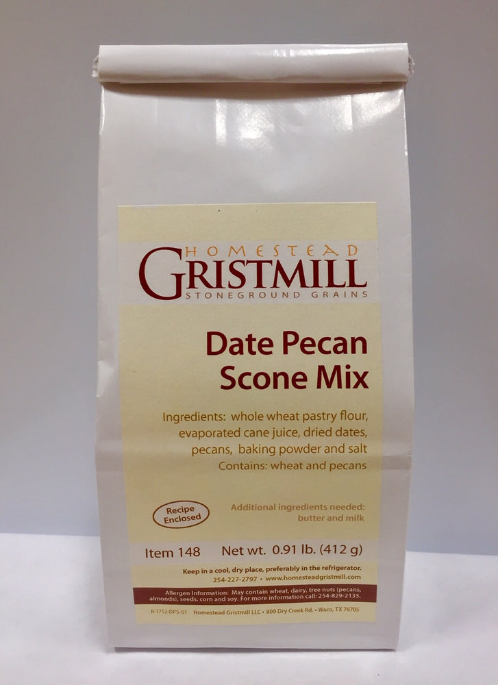 Homestead Gristmill — Non-GMO Date Pecan Scone Mix (2 Pack)