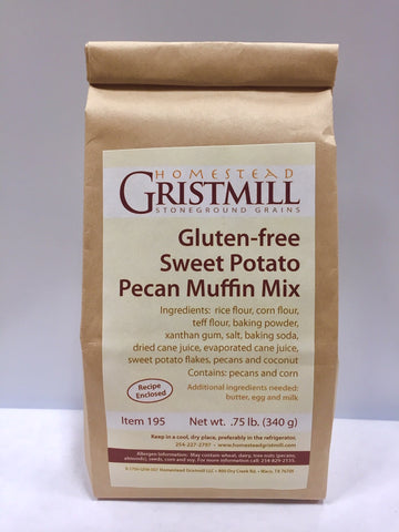 Homestead Gristmill — Non-GMO Gluten-Free Sweet Potato Pecan Muffin Mix (2 Pack)