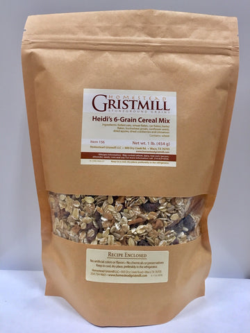 Homestead Gristmill — Non-GMO Heidi's 6-Grain Cereal Mix (2 Pack)