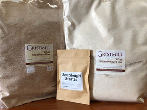 Homestead Gristmill — Sourdough Starter Kit, Dehydrated Sourdough Starter with Artisanally Milled Flours from Certified Organic Wheat Berries