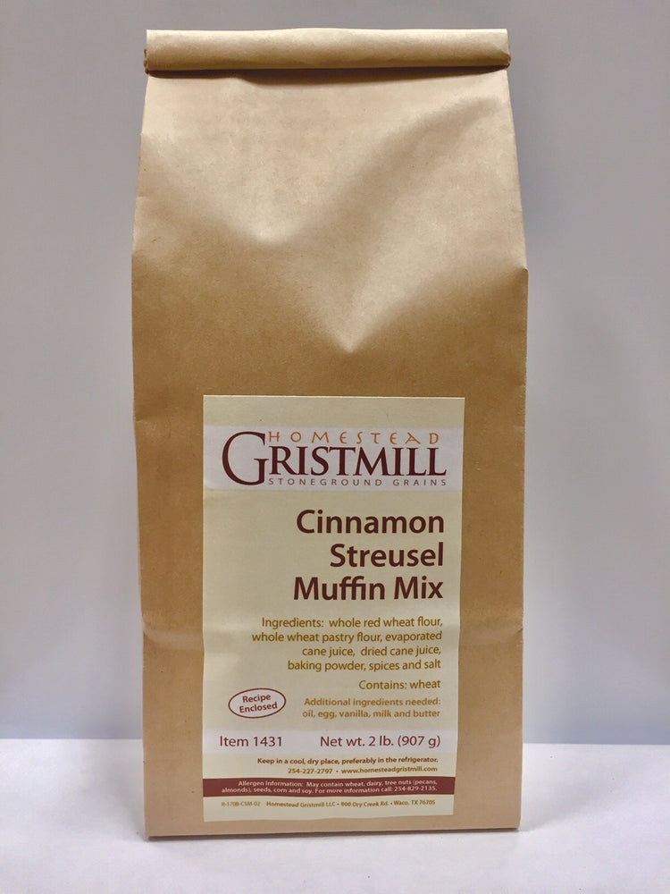 Homestead Gristmill — Non-GMO Cinnamon Streusel Muffin Mix (2 Pack)