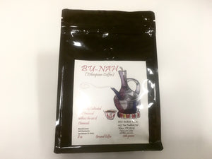 Bu-nah — Authentic, Artisan-Roasted Ethiopian Coffee (Whole Bean/Ground, 12 oz/8 oz)