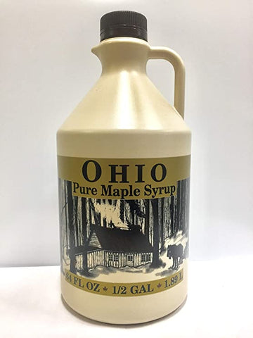 1/2 Gallon Grade A, Pure Ohio Maple Syrup