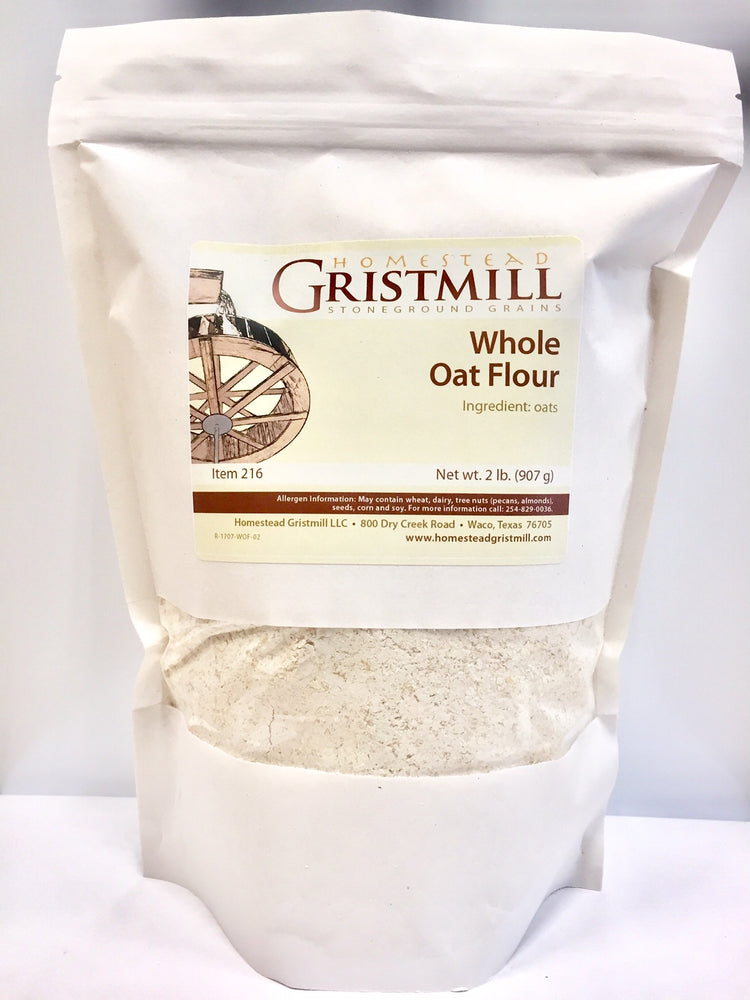 Homestead Gristmill — Organic, Non-GMO Whole Oat Flour (2 Pack)