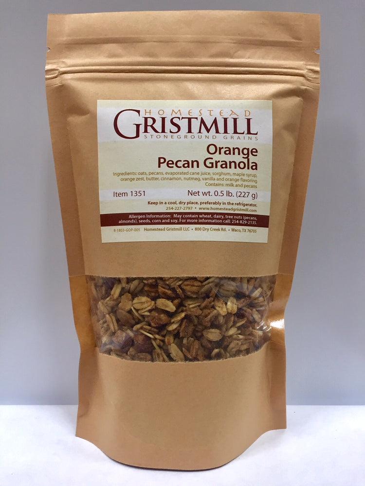 Load image into Gallery viewer, Homestead Gristmill — Non-GMO Orange Pecan Granola (2 Pack)