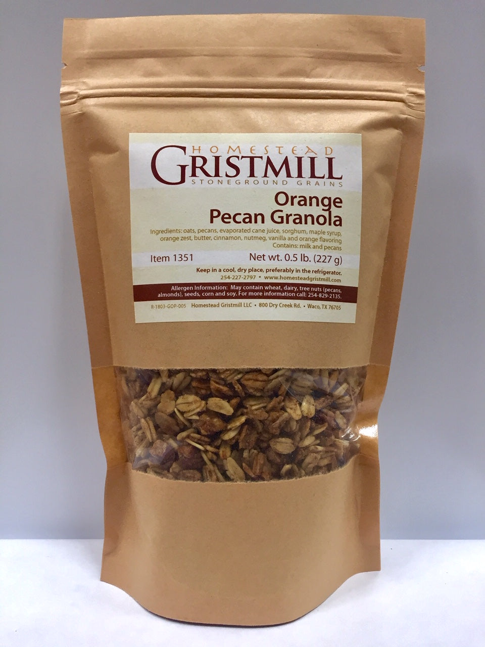 Homestead Gristmill — Non-GMO Orange Pecan Granola (2 Pack)