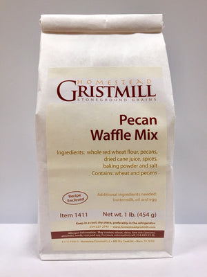 Load image into Gallery viewer, Homestead Gristmill — Non-GMO Pecan Waffle Mix (2 Pack)