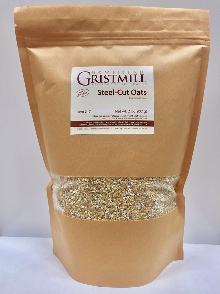 Homestead Gristmill — Organic, Non-GMO Steel-Cut Oats (2 Pack)