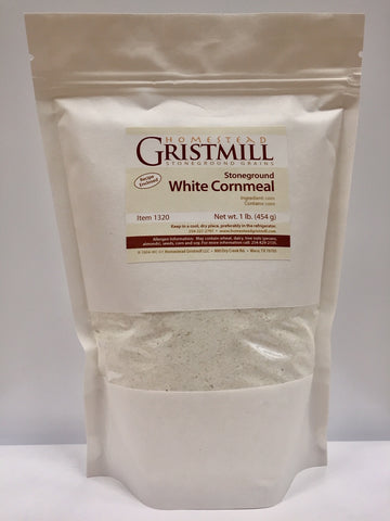 Homestead Gristmill — Organic, Non-GMO, Stone-ground White Cornmeal (2 Pack)