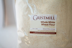 Homestead Gristmill — Stoneground Whole White Wheat Flour Milled from Certified Organic Wheat