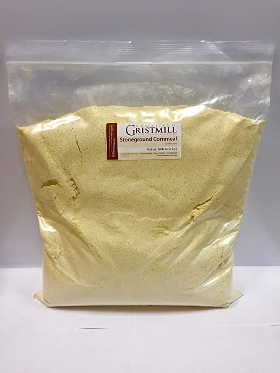 Load image into Gallery viewer, Homestead Gristmill — Organic, Non-GMO, Stone-ground Yellow Cornmeal (10 lbs)