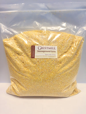 Homestead Gristmill — Organic, Non-GMO, Stone-ground Yellow Corn Grits (10 lb)