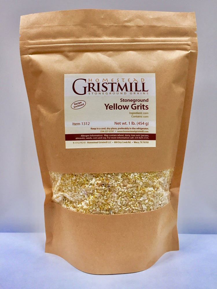 Homestead Gristmill — Organic, Non-GMO, Stone-ground Yellow Corn Grits (2 Pack)