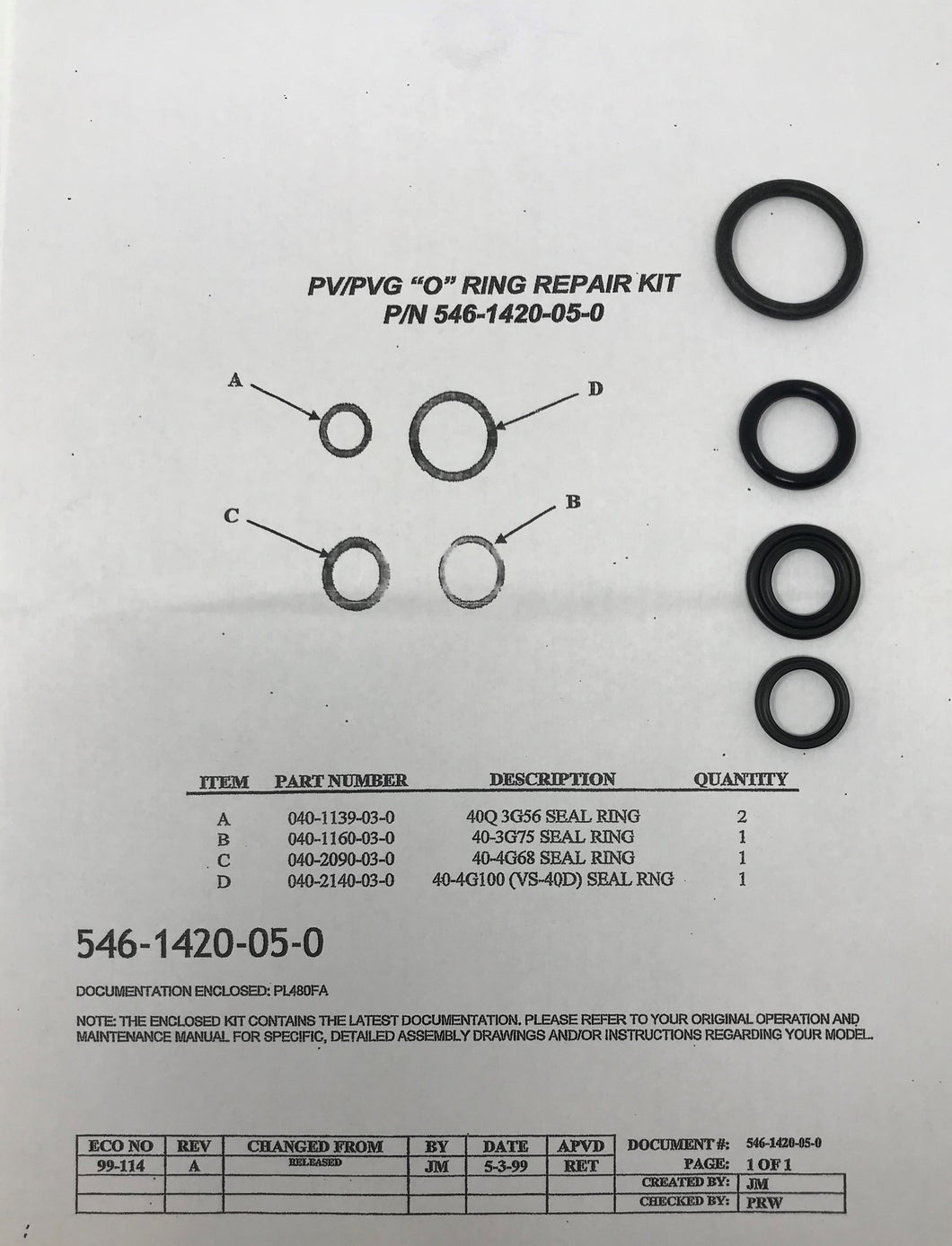 Hale Products PV/PVG O-Ring Repair Kit