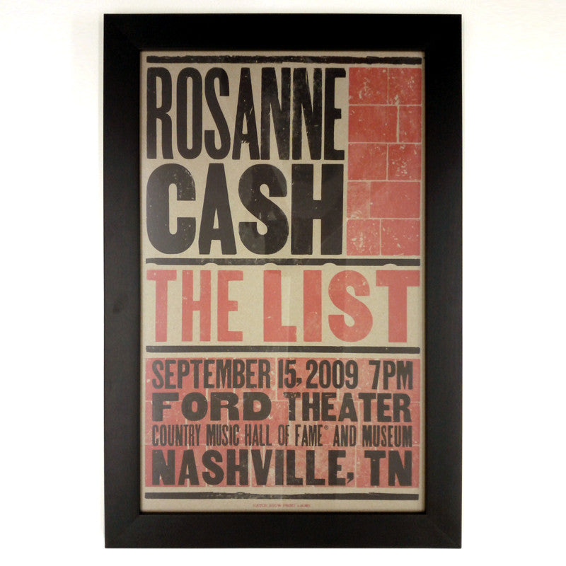 "Hatch Show Print Poster of ""The List"""