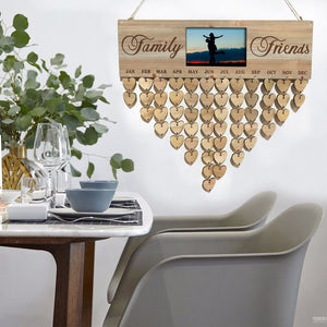 Xmas Sale add 3 items get 1 free - Wooden Family Birthday Reminder Calendar Board