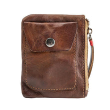 Load image into Gallery viewer, Men Women' Handmade Ultra-thin Zip Card Holder Wallets