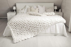Chunky Knit Blanket-add 3 items get 1 free