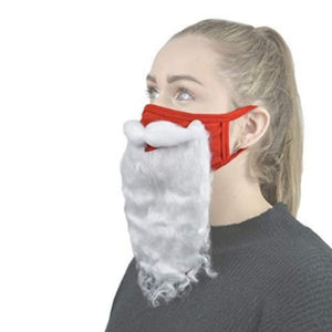 Holiday Santa Beard Face Costume - One Size Fits All
