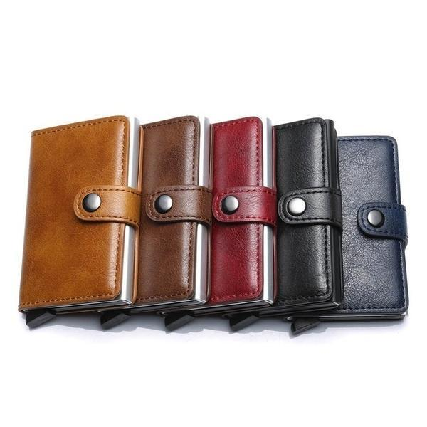 Business Credit Card Holder Rfid Blocking Sleeve Wallet Purse
