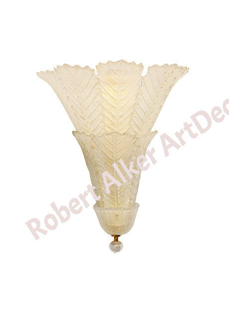 A Pair of Striking MURANO Italian Wall Sconces