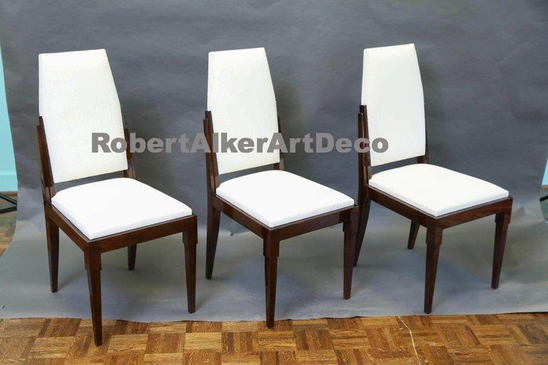 Set of 12 French Art Deco Chairs