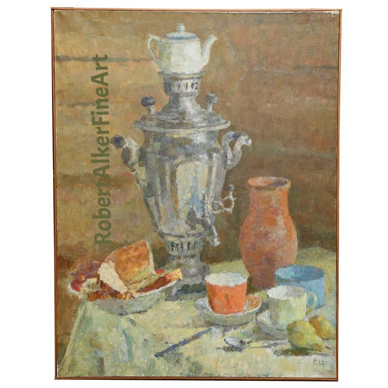 Painting in the Manner of Vladimir Yatsenko, Russian/Soviet Artist