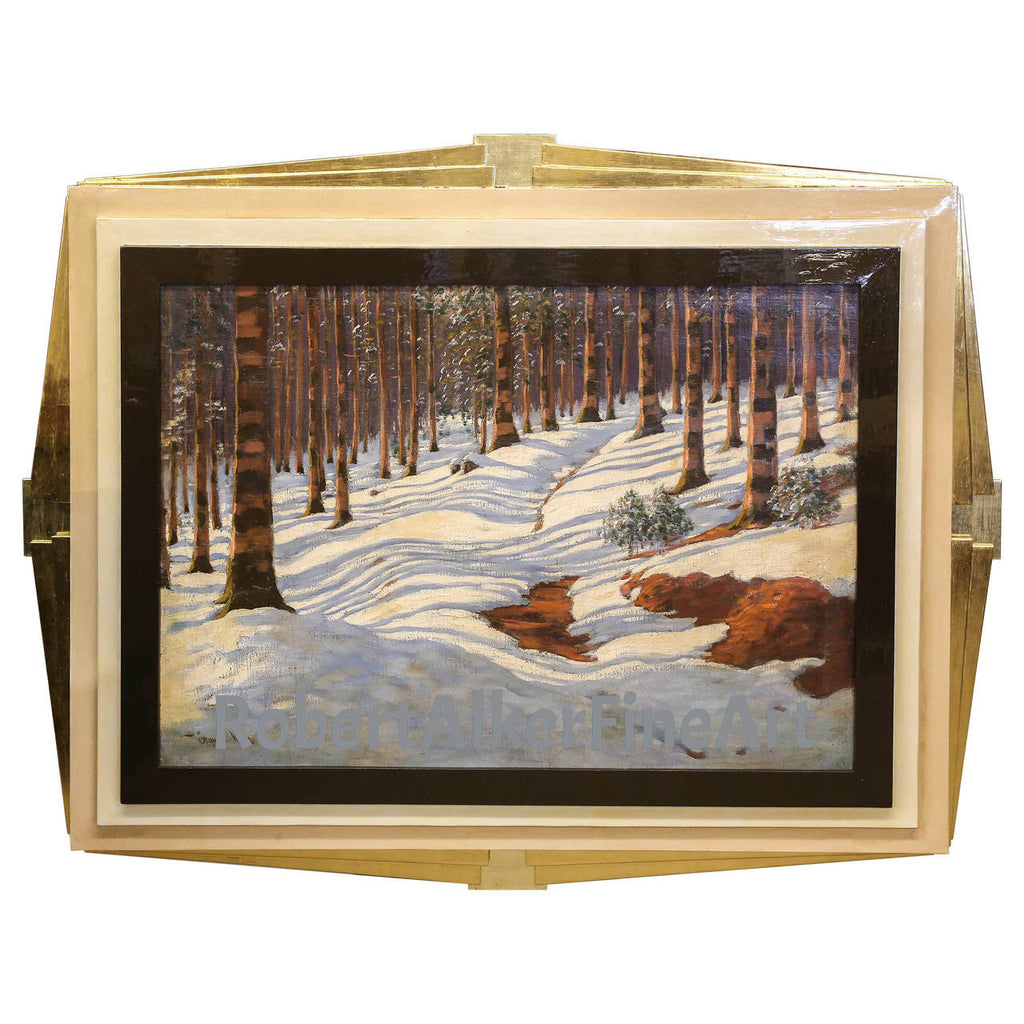 "Victor Olgyai Painting, ""Winter Reflections"""
