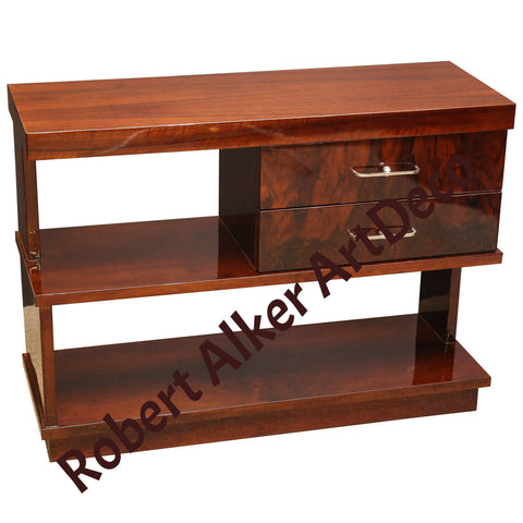 2 WALNUT CONSOLE/SIDE TABLES